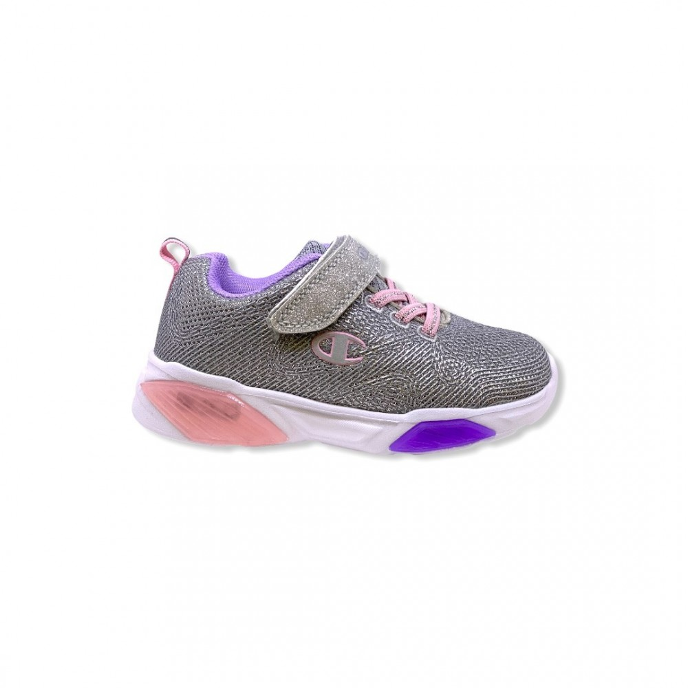 Champion Low Cut Shoe WAVE G PS S32132-F20-ES007 Ασημί με φωτάκια