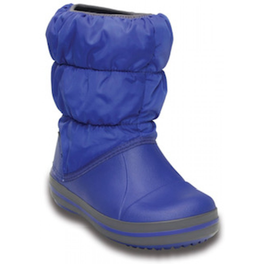 Crocs Winter Puff Boot Kids Μπλε Ρουά 14613-4BH