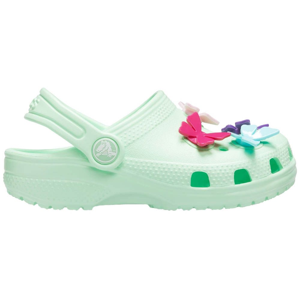 Crocs Classic Butterfly Charm Clg ps Kids 206179-3TI Neo Mint