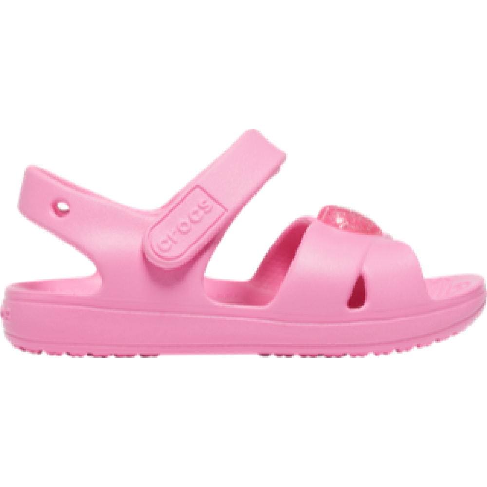 Crocs Classic Cross Strap Sandal ps Pink lemonade relaxed fit 206245-669