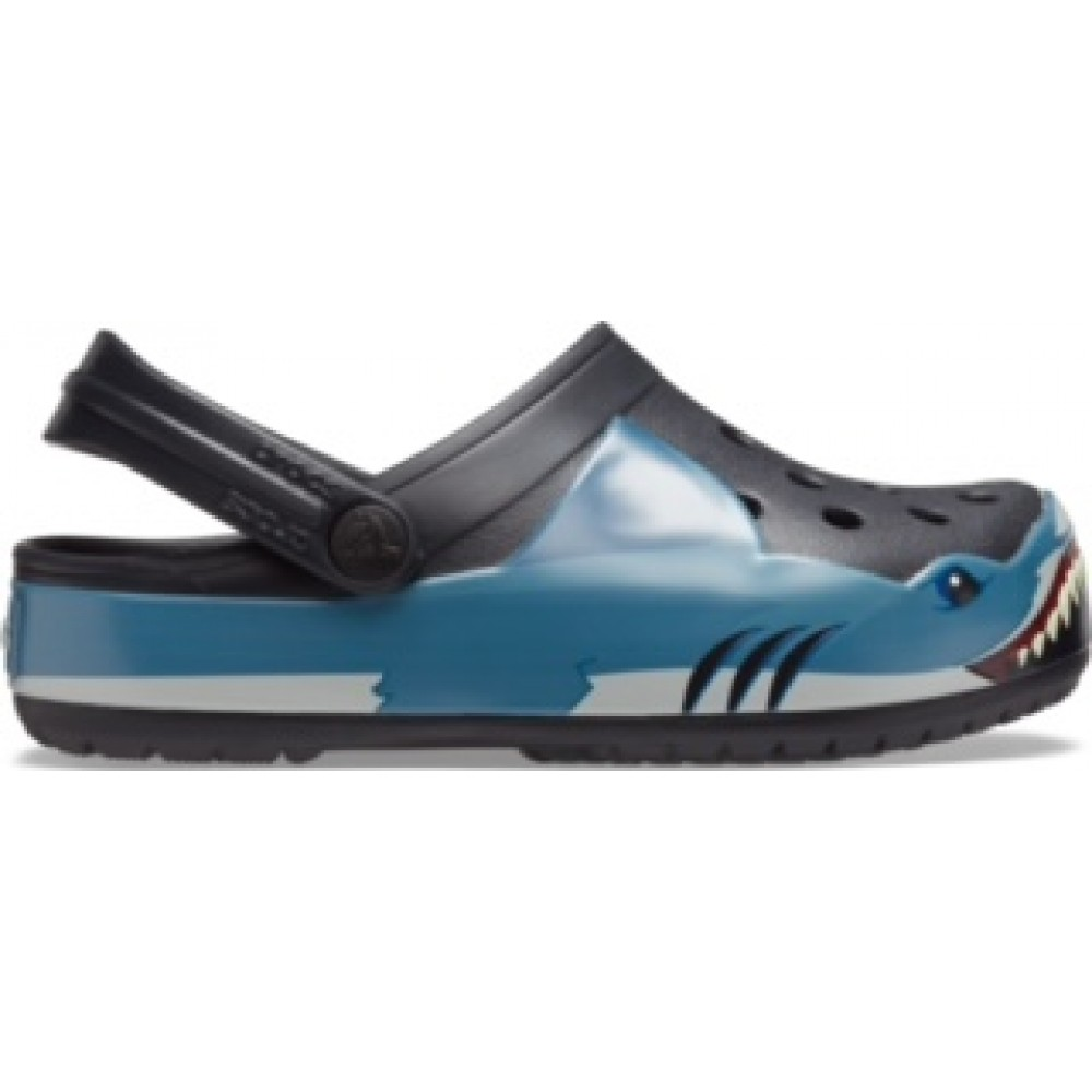 Crocs Funlab Shark Band clg k Black relaxed fit 206271-001