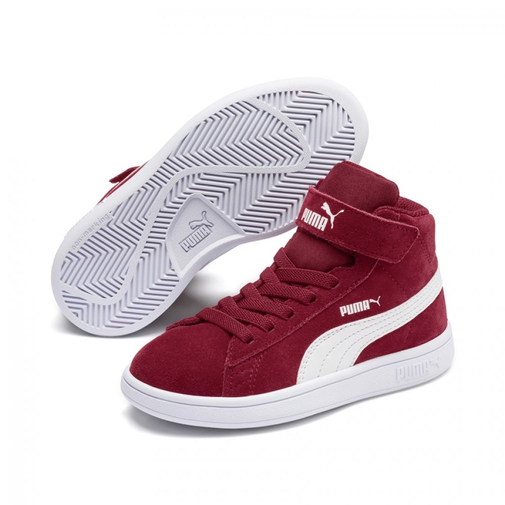 Puma Smash v2 Mid V PS 366885 07 Μπορντώ