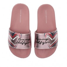 Tommy Hilfiger Heart Print Pool Slide T3A0-31060-0632341 Ροζ Χρυσό