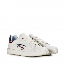 Tommy Hilfiger Low Cut Lace-Up Sneaker T3B4-30714-0742X008 Λευκό