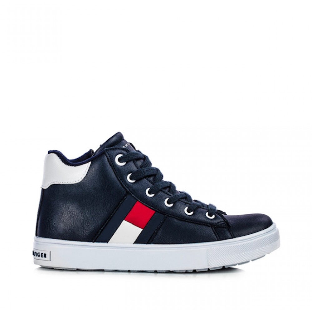 Tommy Hilfiger High Top Lace-Up Sneaker T3B4-30925-1031800 Μπλε