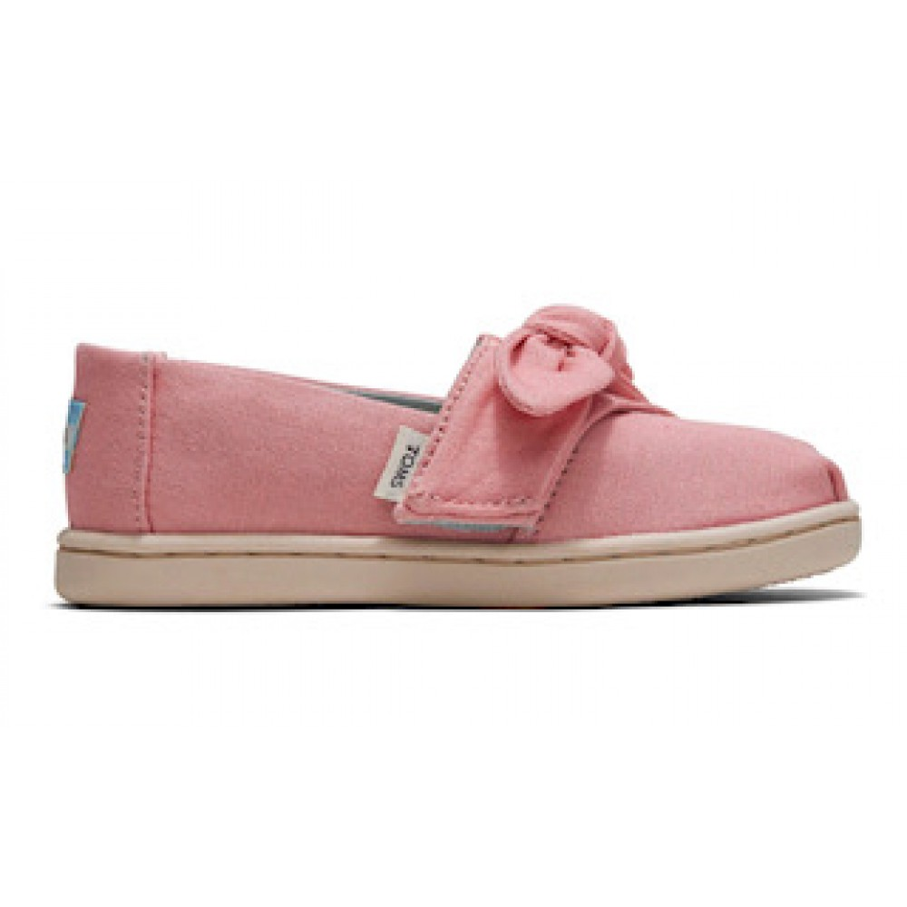 Toms Classic Plant Dyed Pink Canvas Bow 10015171