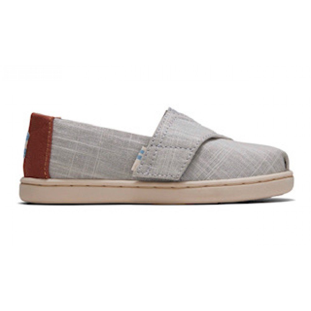 Toms Classic Drizzle Grey Crosshatch Linen 10015190